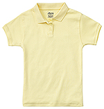 Classroom Uniforms Classroom Junior SS Fitted Interlock Polo in Yellow (58584-YEL)