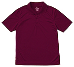 Classroom Uniforms Classroom Youth Unisex Moisture-Wicking Polo Shirt in Burgundy (58602-BUR)