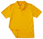 Classroom Uniforms Classroom Youth Unisex Moisture-Wicking Polo Shirt in Gold (58602-GOLD)