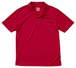 Classroom Uniforms Classroom Youth Unisex Moisture-Wicking Polo Shirt in Red (58602-RED)