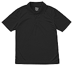 Classroom Uniforms Classroom Youth Unisex Moisture-Wicking Polo Shirt in SS Black (58602-SSBK)