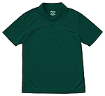 Classroom Uniforms Classroom Youth Unisex Moisture-Wicking Polo Shirt in SS Hunter Green (58602-SSHN)