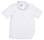 Classroom Uniforms Classroom Youth Unisex Moisture-Wicking Polo Shirt in SS White (58602-SSWT)
