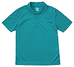 Classroom Uniforms Classroom Youth Unisex Moisture-Wicking Polo Shirt in Teal (58602-TEAL)