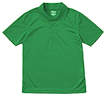 Classroom Uniforms Classroom Adult Unisex Moisture-Wicking Polo Shirt in SS Kelly Green (58604-SSKG)