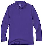 Photo of Youth Unisex Long Sleeve Interlock Polo
