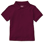 Classroom Uniforms Classroom Preschool Unisex SS Interlock Polo in Burgundy (58830-BUR)