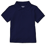 Classroom Uniforms Classroom Preschool Unisex SS Interlock Polo in Dark Navy (58830-DNVY)