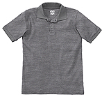Classroom Uniforms Classroom Youth Unisex Short Sleeve Interlock Polo in Heather Gray (58912-HGRY)