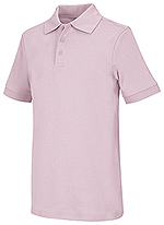 Classroom Uniforms Classroom Youth Unisex Short Sleeve Interlock Polo in Pink (58912-PINK)