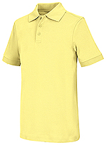 Classroom Uniforms Classroom Youth Unisex Short Sleeve Interlock Polo in Yellow (58912-YEL)