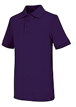 Classroom Uniforms Classroom Adult Unisex Short Sleeve Interlock Polo in Dark Purple (58914-DKPR)
