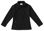 Classroom Uniforms Classroom Girls Fitted Polar Fleece Jacket in Black (59102-BLK)
