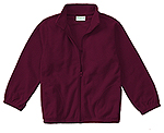 Classroom Uniforms Classroom Youth Unisex Polar Fleece Jacket in Burgundy (59202-BUR)