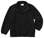 Classroom Uniforms Classroom Adult Unisex Polar Fleece Jacket in Black (59204-BLK)