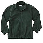 Classroom Uniforms Classroom Adult Unisex Polar Fleece Jacket in Hunter Green (59204-HUN)