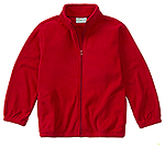 Classroom Uniforms Classroom Adult Unisex Polar Fleece Jacket in Red (59204-RED)