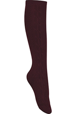 Classroom Uniforms Classroom Girls/Juniors Cable Knee Hi Socks 3 PK in Burgundy (5HF102-BUR)