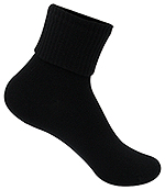 Classroom Uniforms Classroom Girls/Junior Triple Roll Socks 3-PK in Black (5HF111-BLK)