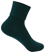 Classroom Uniforms Classroom Girls/Junior Triple Roll Socks 3-PK in Hunter Green (5HF111-HUN)