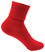 Classroom Uniforms Classroom Girls/Junior Triple Roll Socks 3-PK in Red (5HF111-RED)