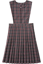 Classroom Uniforms Girl Plaid Slit Front Knife Pleat Jumper in PLAID 43 (5P4722A-P43)