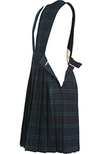 Classroom Uniforms Girl Plaid Slit Front Knife Pleat Jumper in PLAID 79 (5P4722A-P79)