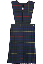 Classroom Uniforms Girl Plaid Slit Front Knife Pleat Jumper in PLAID 83 (5P4722A-P83)