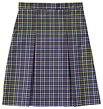 Classroom Uniforms Girls Plaid Kick Pleat Skirt in PLAID 42 (5P5343A-P42)
