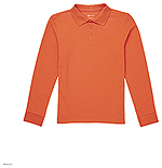 Classroom Uniforms Classroom Adult Long Sleeve Pique Polo in Orange (CR835X-ORG)