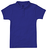 Classroom Uniforms Classroom Girls Short Sleeve Fitted Interlock Polo in SS Royal (CR858Y-SSRY)