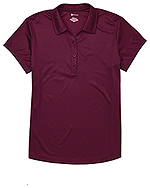 Classroom Uniforms Classroom Juniors Moisture Wicking Polo in Burgundy (CR864X-BUR)