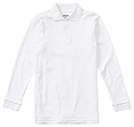 Classroom Uniforms Classroom Youth Long Sleeve Interlock Polo in SS White (CR873Y-SSWT)