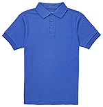 Classroom Uniforms Classroom Youth Short Sleeve Interlock Polo in SS Royal (CR891Y-SSRY)