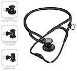 MDF MDF Sprague-X Stethoscope BlackOut (All Black) (MDF767X-BO)