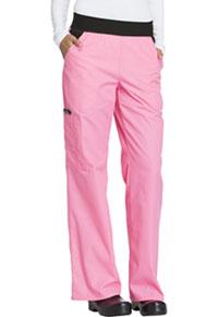 Cherokee Mid Rise Knit Waist Pull-On Pant Pink Macaron (1031-PKMC)
