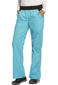 Cherokee Mid Rise Knit Waist Pull-On Pant Turquoise (1031-TRQB)