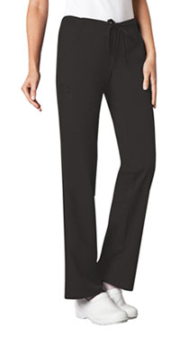 Low Rise Straight Leg Drawstring Pant (1066P-BLKV)