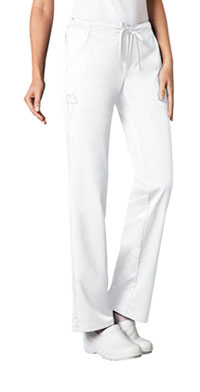 Low Rise Straight Leg Drawstring Pant (1066P-WHTV)