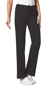 Cherokee Low Rise Straight Leg Drawstring Pant Black (1066-BLKV)