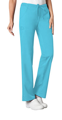 Cherokee Low Rise Straight Leg Drawstring Pant Blue Wave (1066-BLUV)