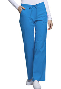 Cherokee Low Rise Straight Leg Drawstring Pant Blue Bell (1066-BUEL)