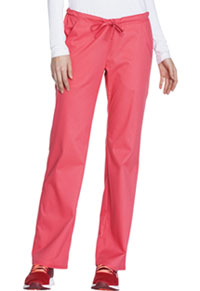 Cherokee Low Rise Straight Leg Drawstring Pant Fire Coral (1066-FICL)