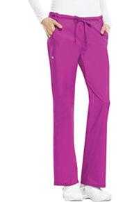 Cherokee Low Rise Straight Leg Drawstring Pant Pink Violet (1066-PVIV)