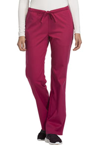 Cherokee Low Rise Straight Leg Drawstring Pant Up-Beet (1066-UPBT)