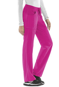 Cherokee Low Rise Straight Leg Drawstring Pant Carmine Pink (1123A-CPPS)