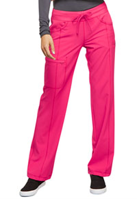 Cherokee Low Rise Straight Leg Drawstring Pant Poppy Pink (1123A-PONK)