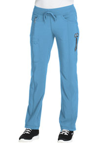 Cherokee Low Rise Straight Leg Drawstring Pant Turquoise (1123A-TRQ)