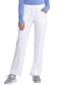 Low Rise Straight Leg Drawstring Pant White (1123A-WTPS)