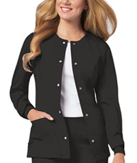 Cherokee Snap Front Warm-Up Jacket Black (1330-BLKV)